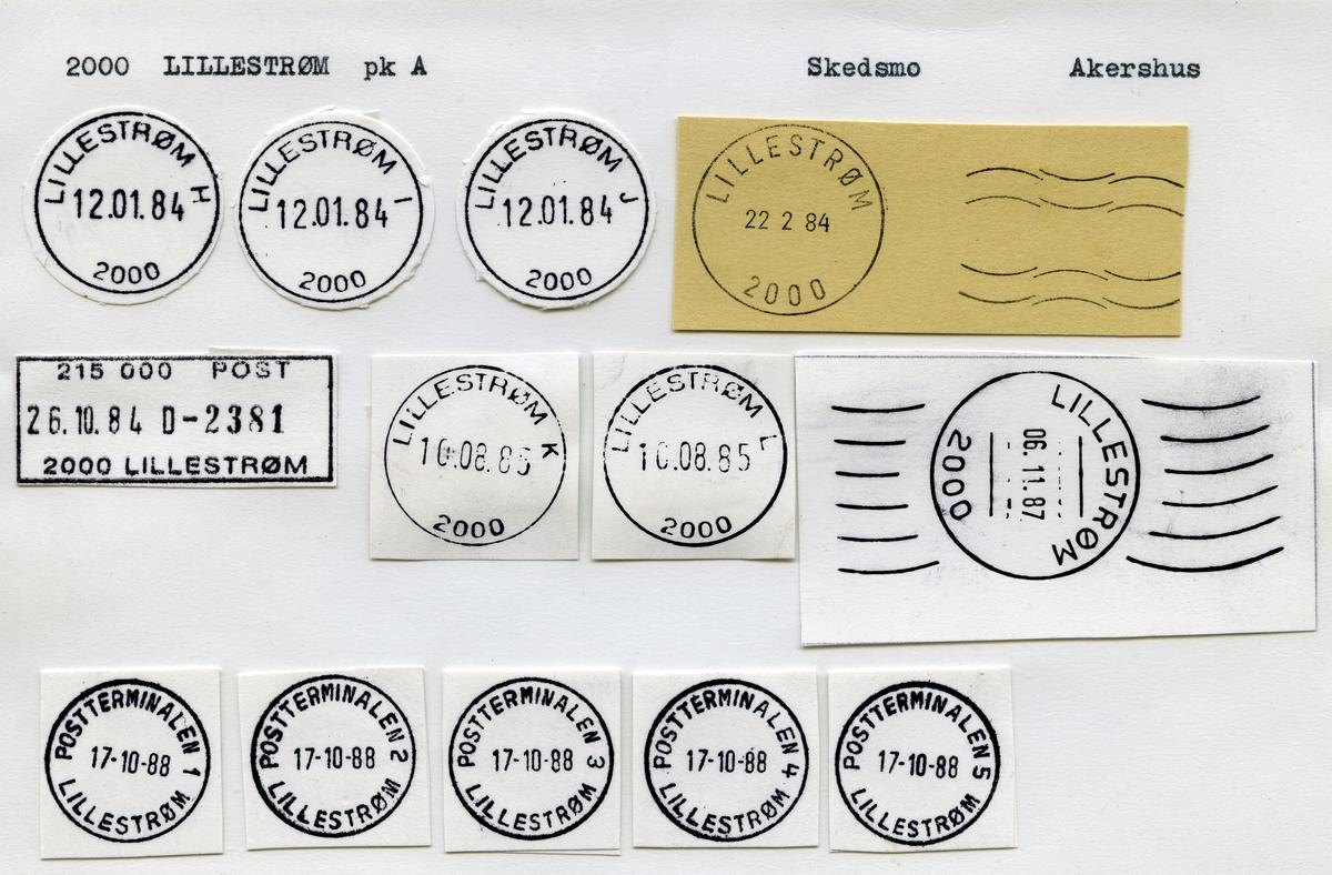 Stempelkatalog 2600 Lillehammer Fylkessykehus, Lillehammer, Oppland