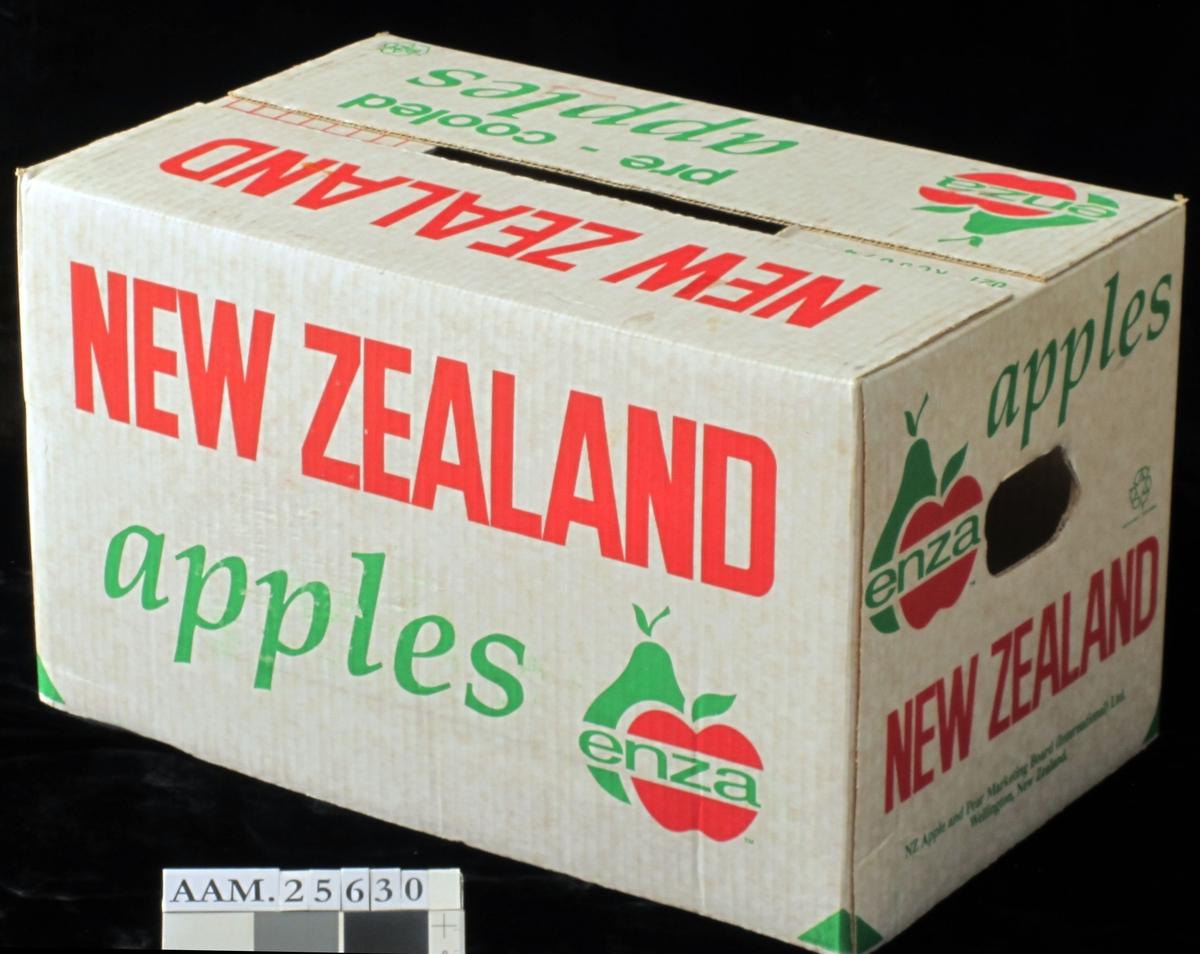 Varemerke  m.rødt eple og grønn pære.