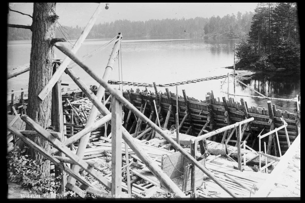Arendal Fossekompani i begynnelsen av 1900-tallet CD merket 0474, Bilde: 42 Sted: Småstraumene Beskrivelse: Sluser