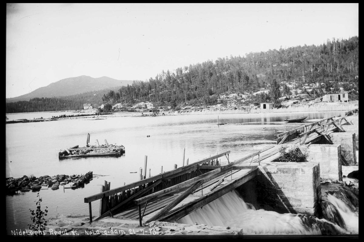 Arendal Fossekompani i begynnelsen av 1900-tallet CD merket 0474, Bilde: 87 Sted: Nelaug Beskrivelse: Damanlegget