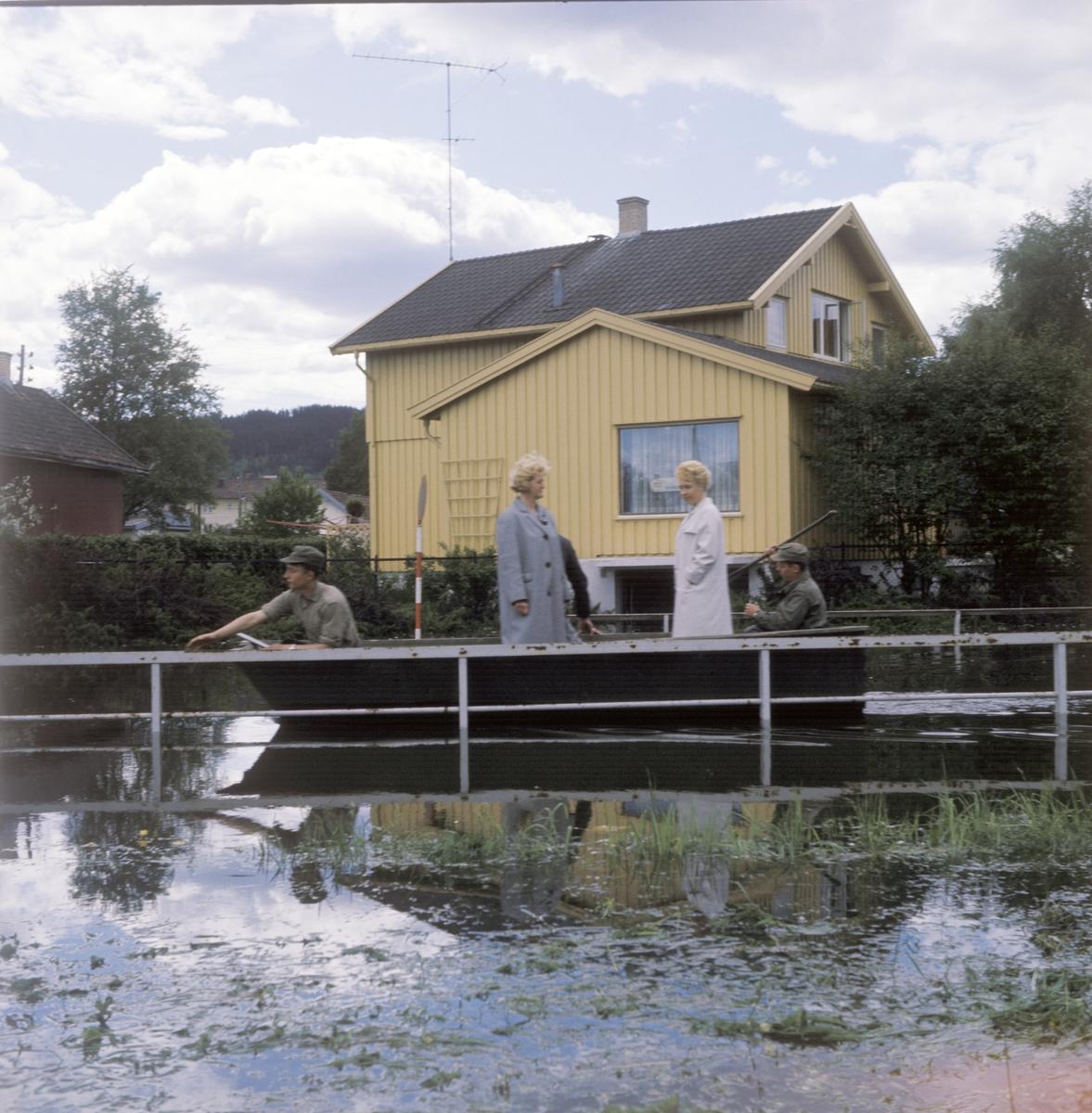 Bilder fra flom i Lillestrøm 1967. Eidsvoldsgangen 2