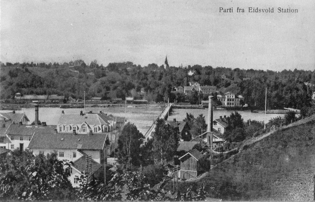 Sundet og Eidsvoll stasjon før 1921.