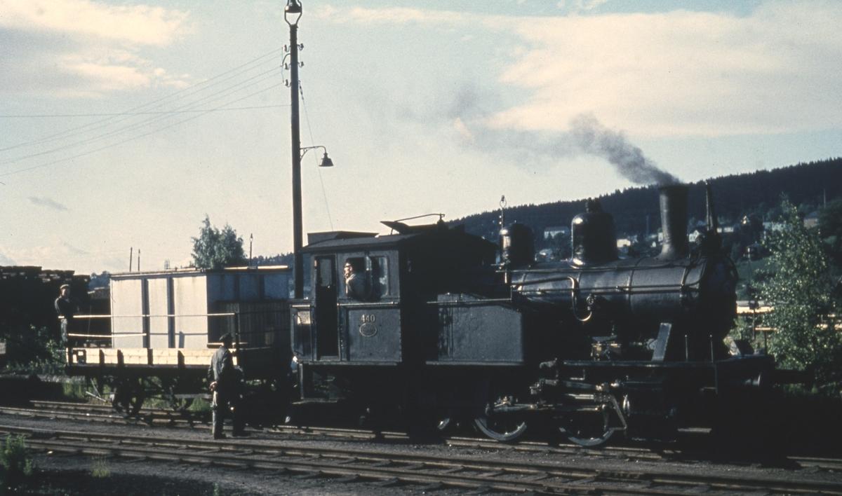 Skiftelokomotiv på Lillestrøm stasjon