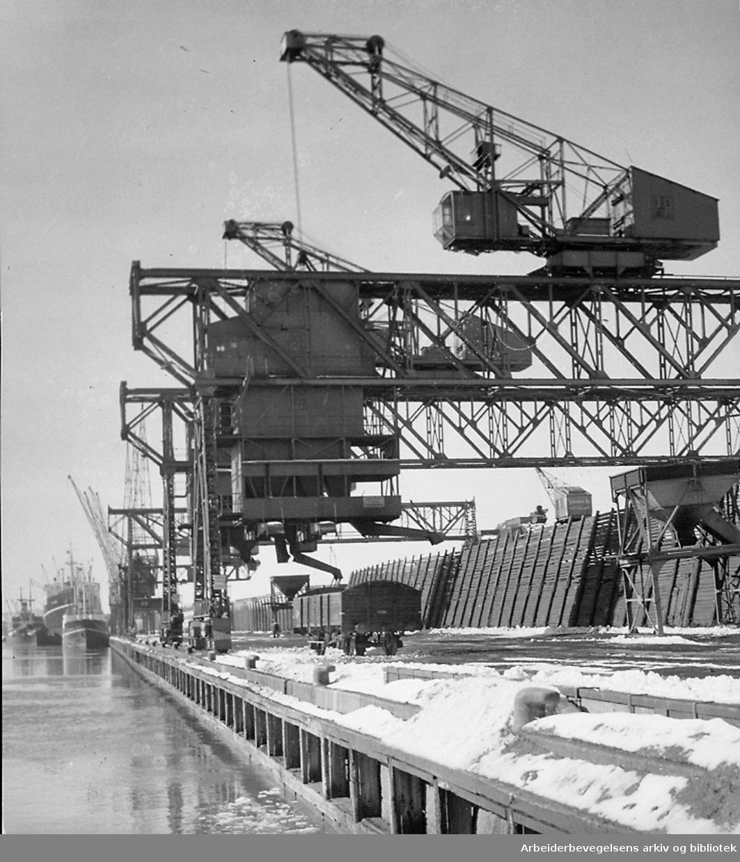 Oslo havn - Filipstad, mars 1951
