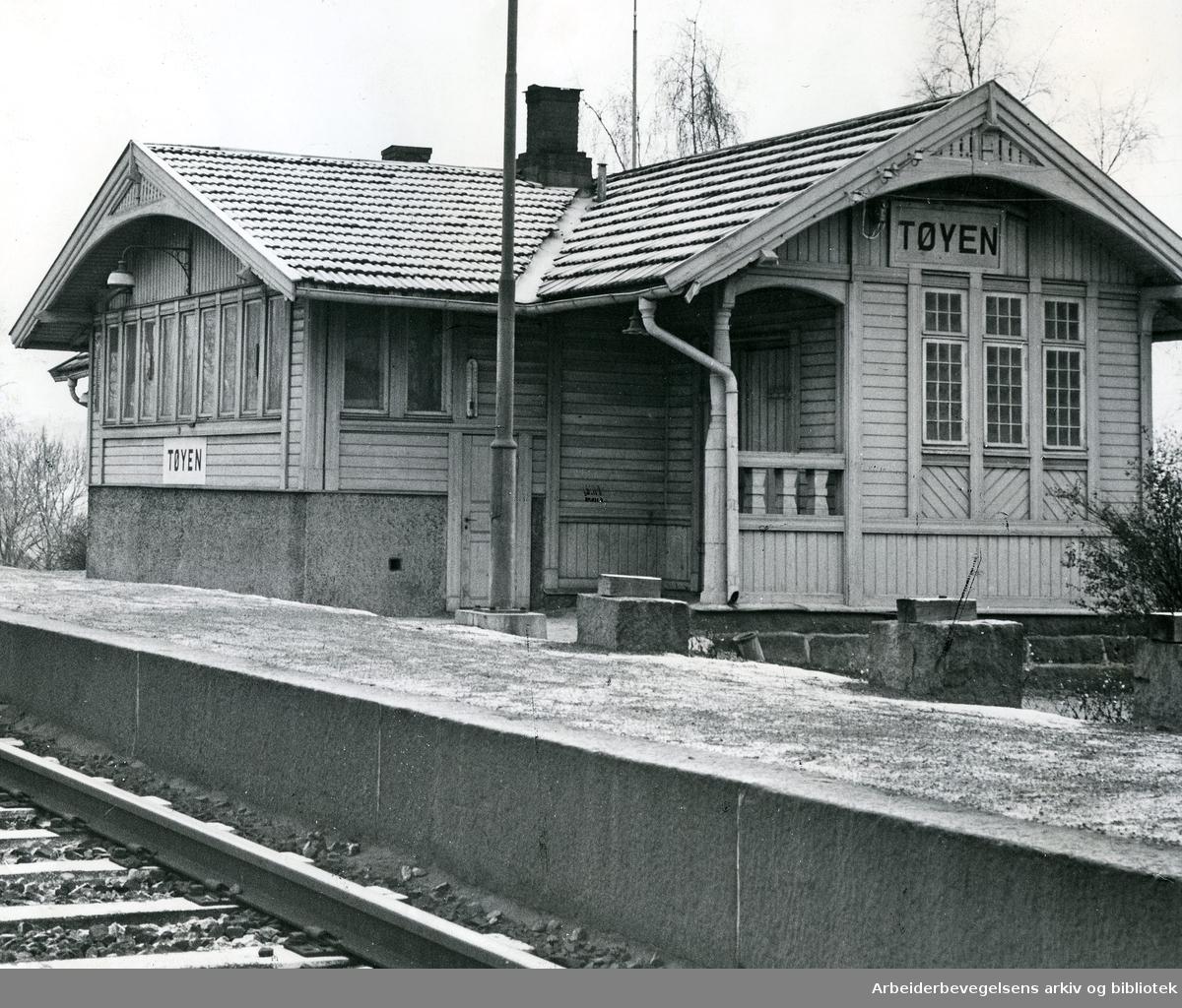 Tøyen stasjon, november 1965