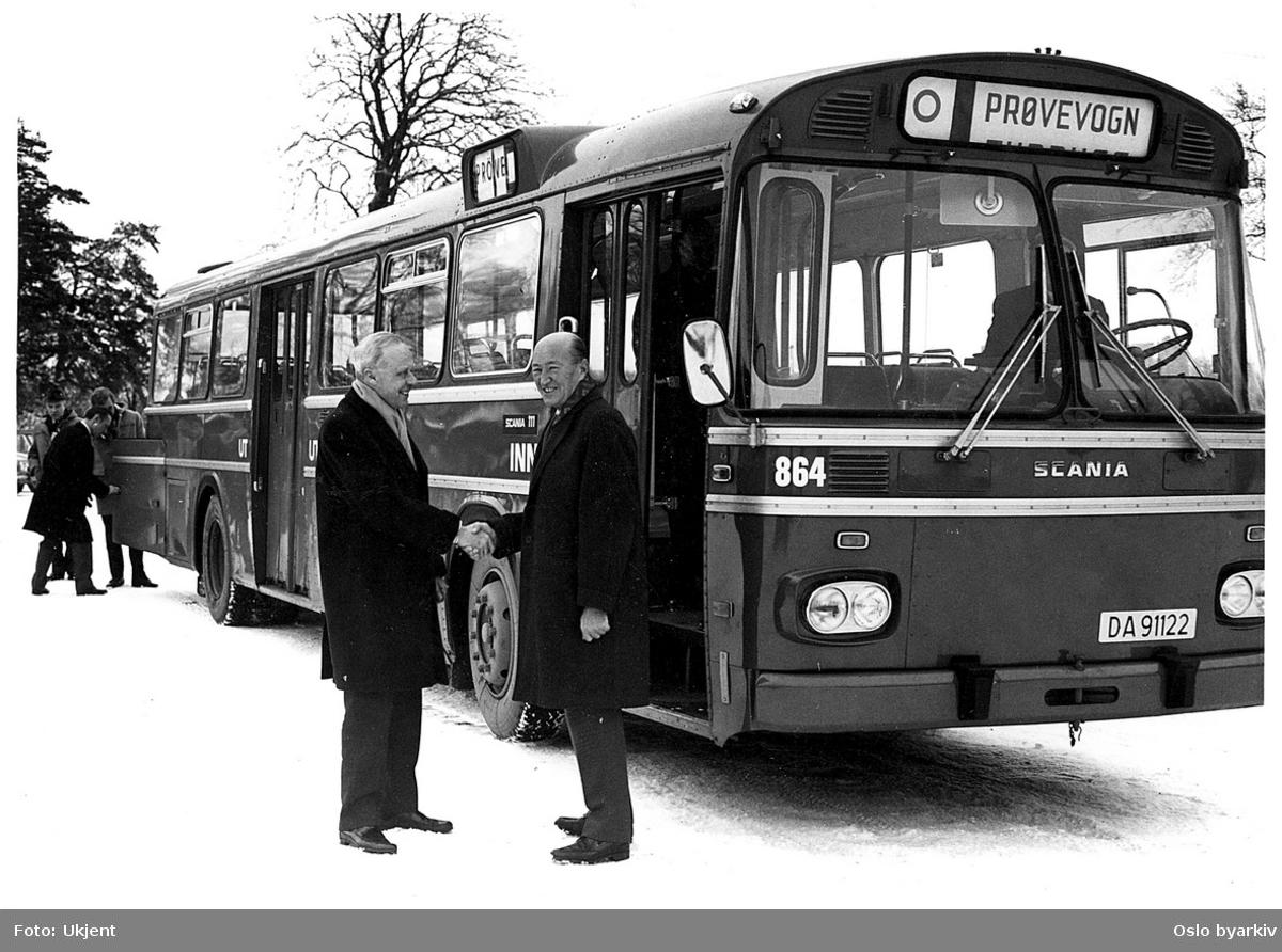 Dirketør for Oslo Sporveier ved bussovertakelse