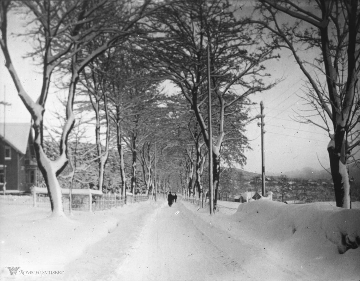 11.Parkvegen (tidligere øvre vei) med ubebygde Gørvellmarken i bakgrunnen.