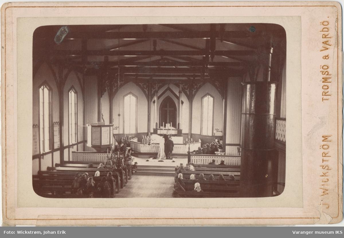 Bryllup i Vardø kirke, 1884