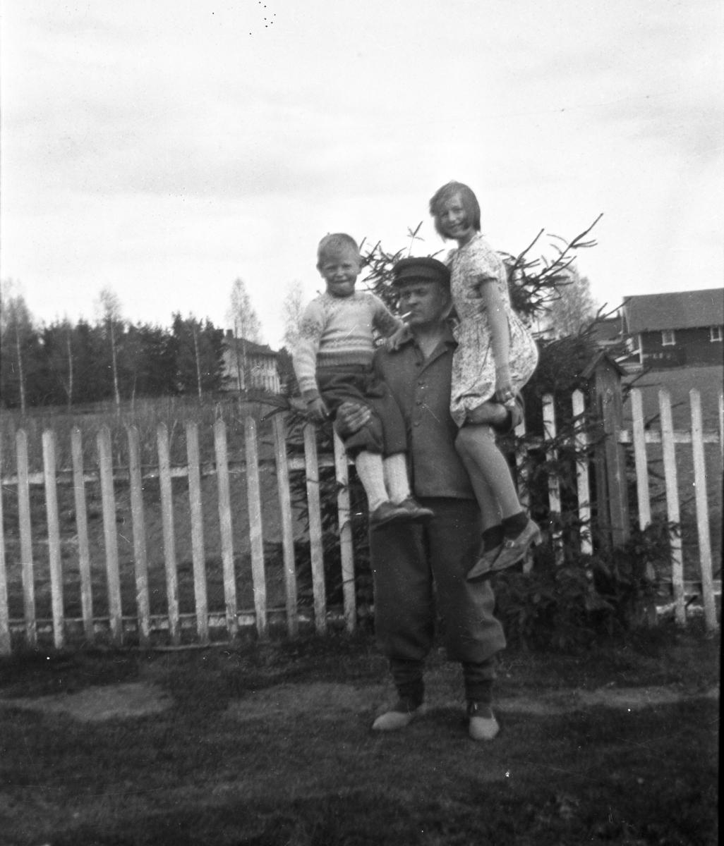 Mann med barn