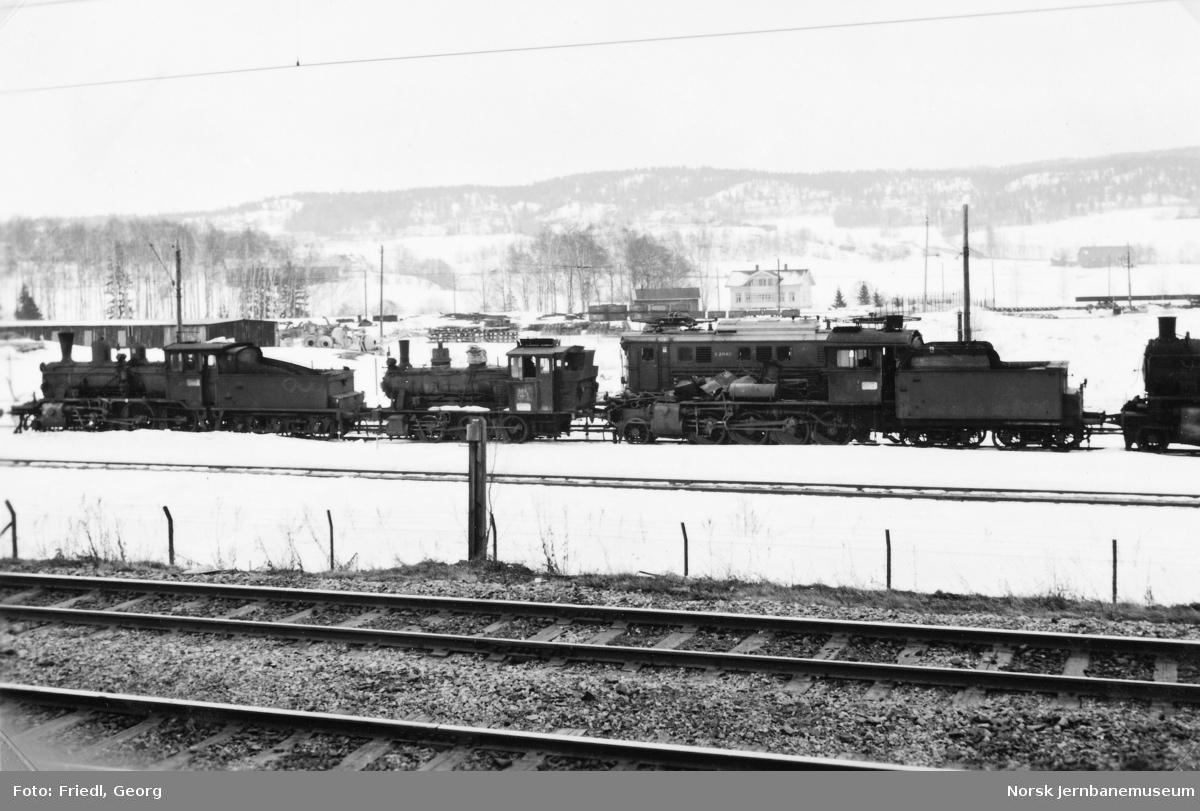 Hensatte lokomotiver på Verkstedet Grorud - type 21b nr. 251, 25a nr. 326 og 24b nr. 264