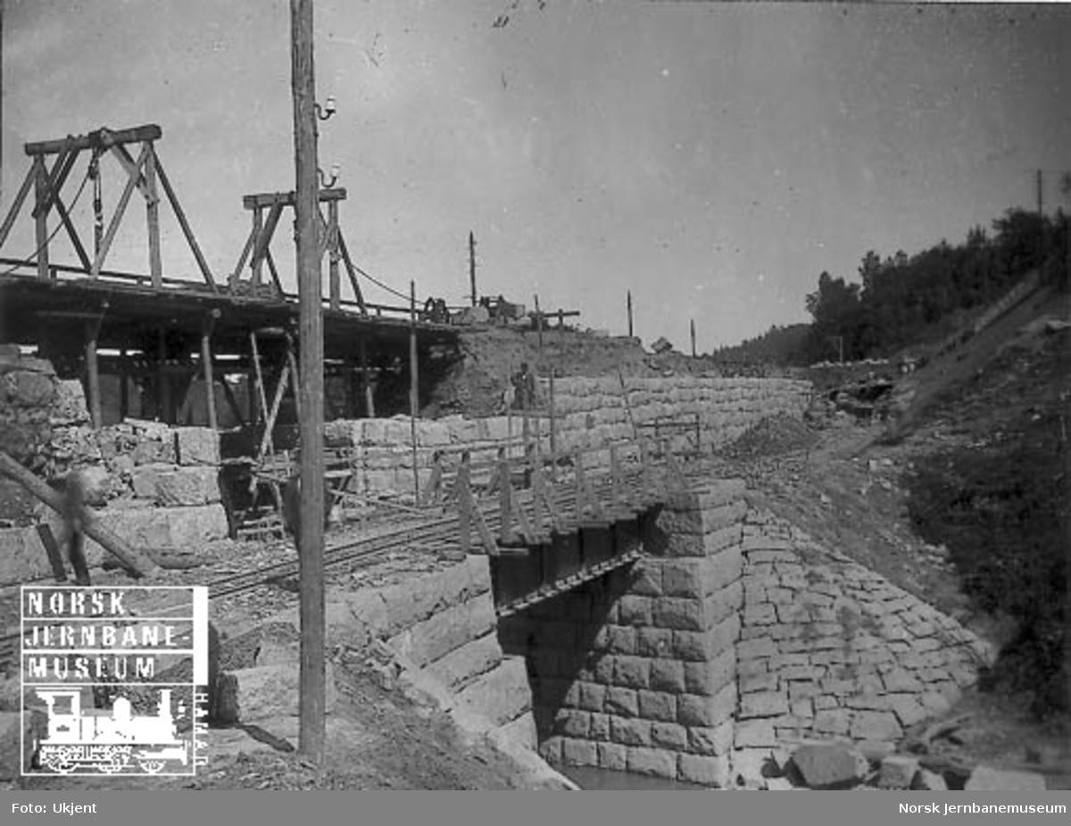 Bru for godssporet og ombygging av gammel bru ved Nygård