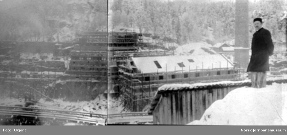 Skotfos Fabrikker under bygging