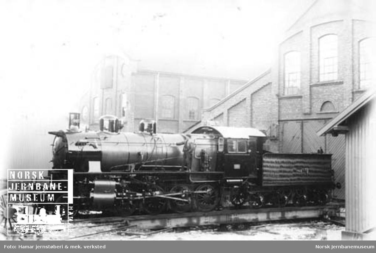 Ofotbanens damplokomotiv type 28a nr. 163 ved levering