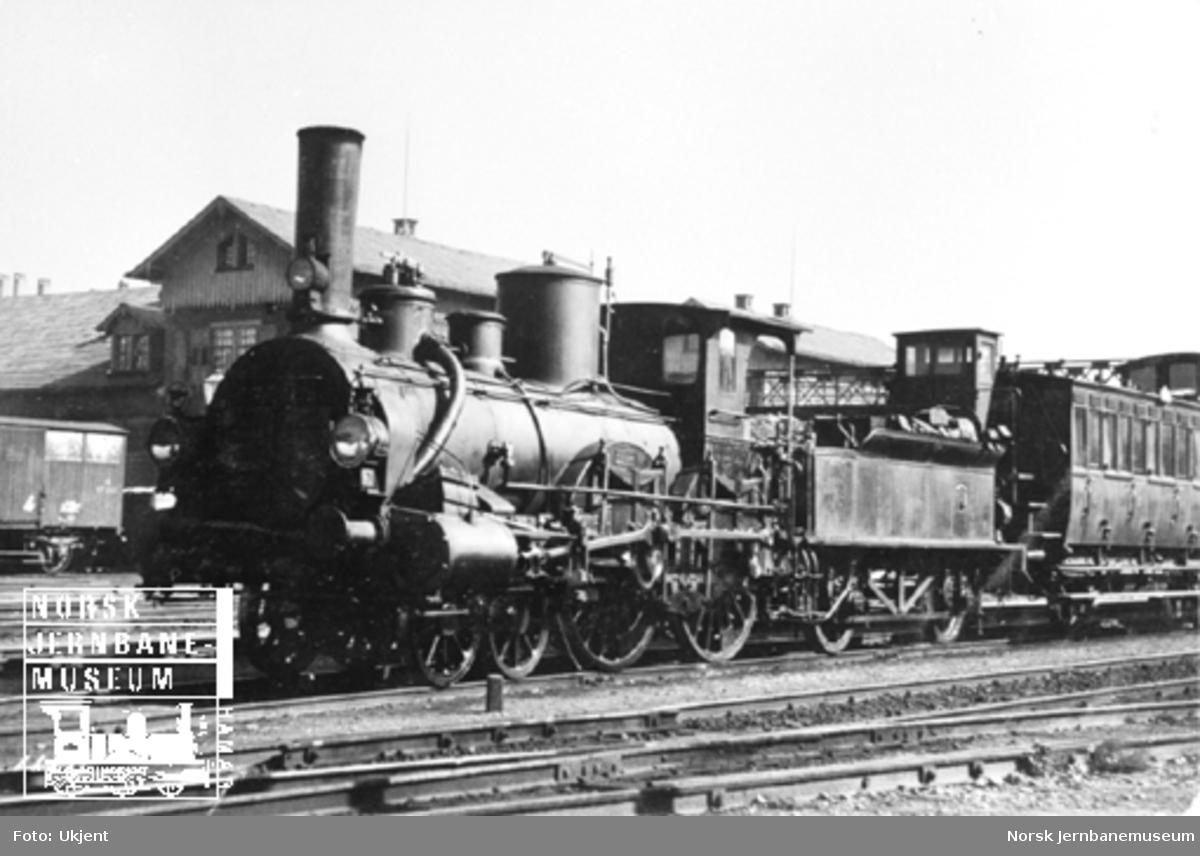 Tysk (badisk) damplokomotiv med akselrekkefølge 2'B - 2