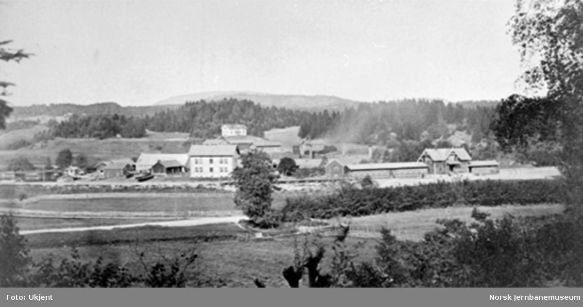 Oversiktsbilde fra Lysaker med stasjonen