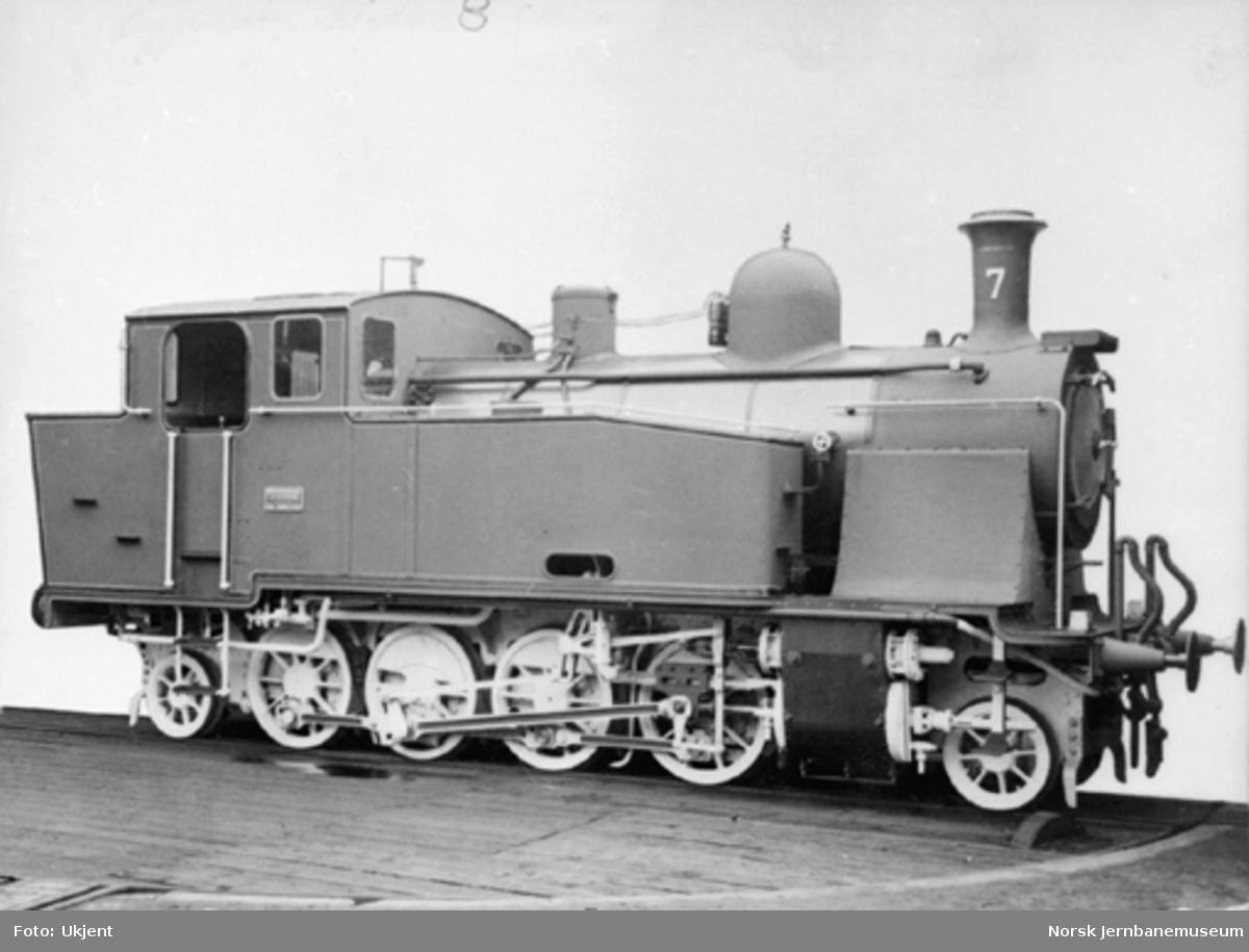 Leveransefoto av Valdresbanens damplokomotiv nr. 7