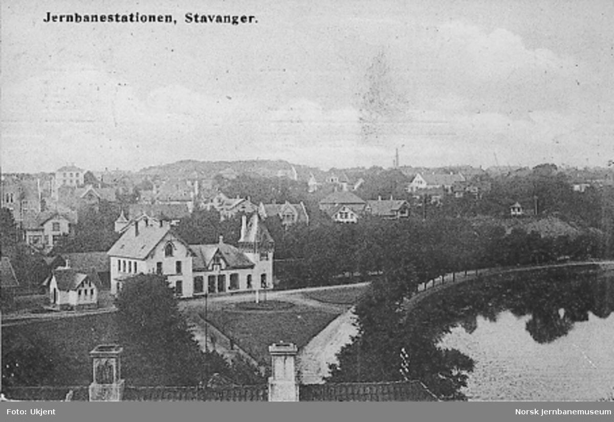 Stavanger stasjonsbygning sett fra bysiden