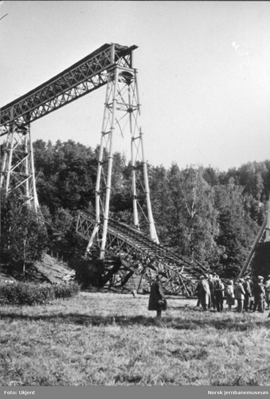 Ljansviadukten : sprengningen i 1929