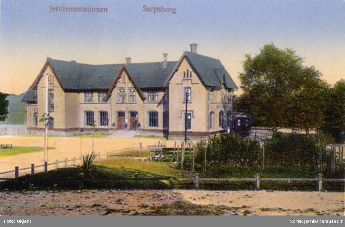 Sarpsborg stasjonsbygning, bysiden