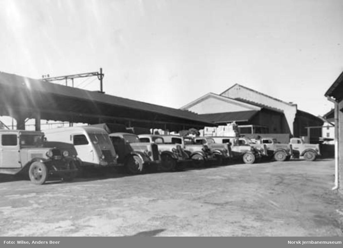 NSB Biltransports lastebiler for godsutkjøring