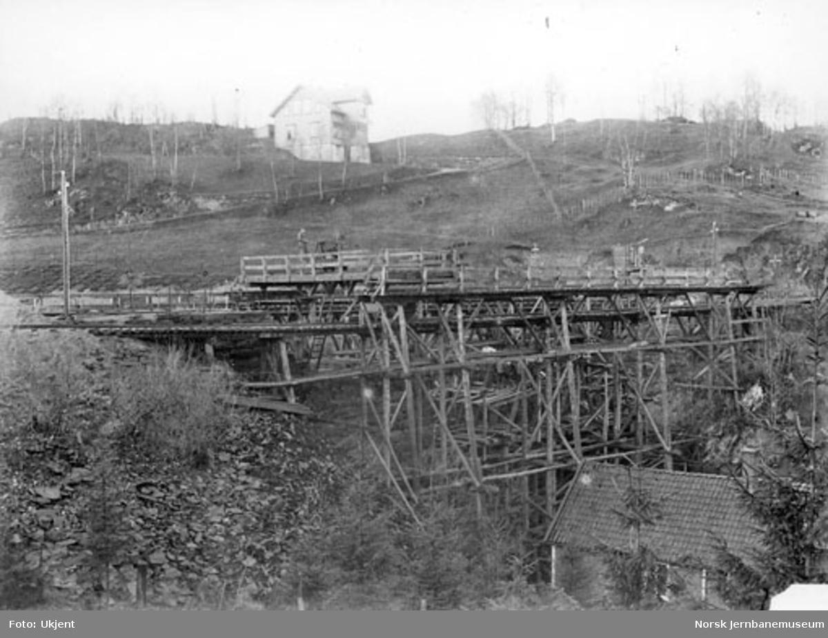 Nesttun bru ved Vossebanens ombygging