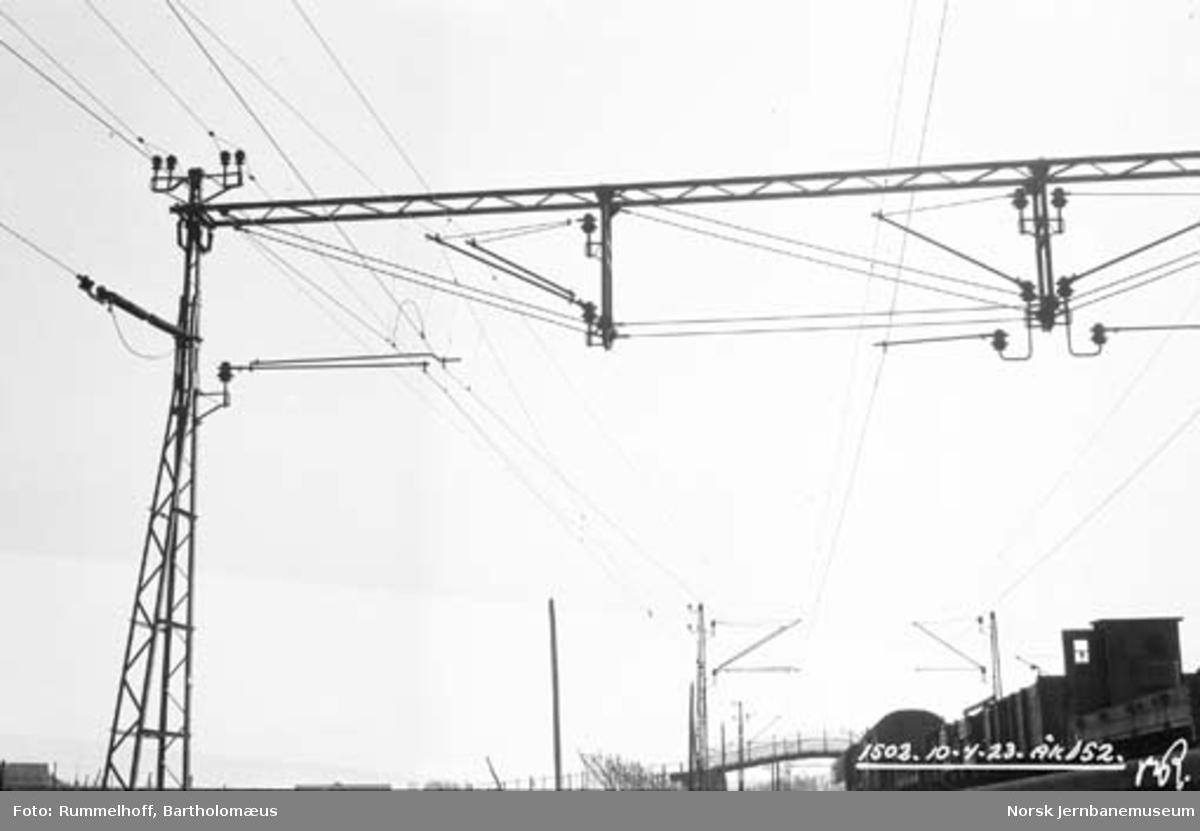Drammenbanens elektrifisering : kontaktledningsanlegg; åk, jording