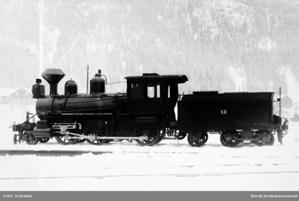 Rørosbanens damplokomotiv type XX nr. 48