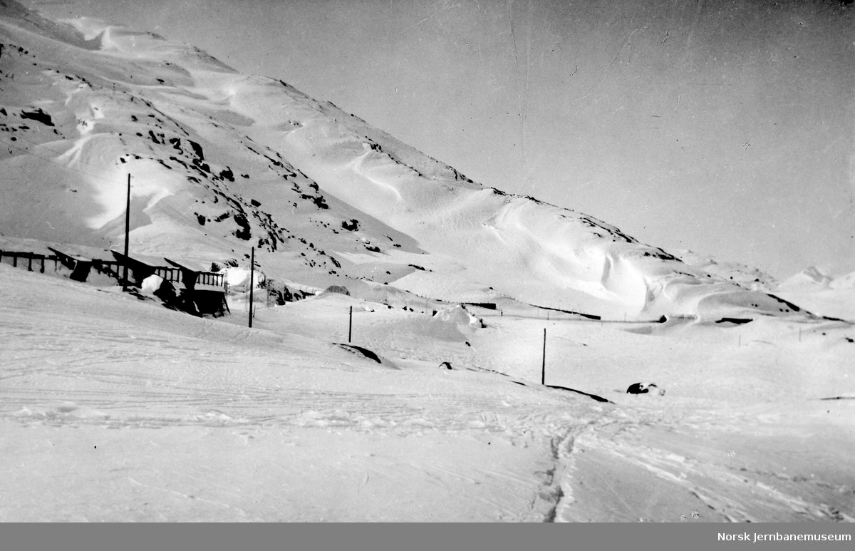 Snøoverbygg ved Riksgrensen