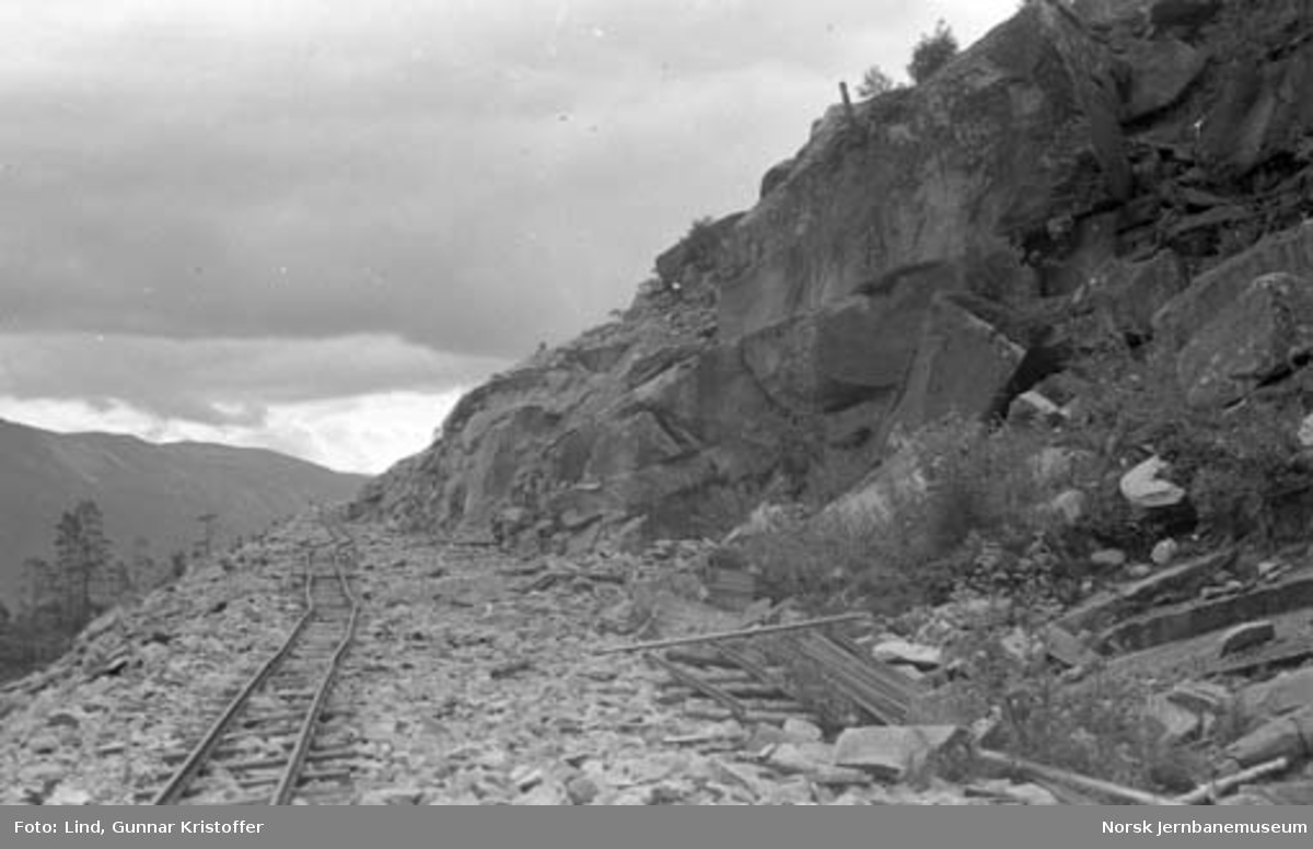 Nordlandsbaneanlegget : skjæring i Fall Eliasdalen