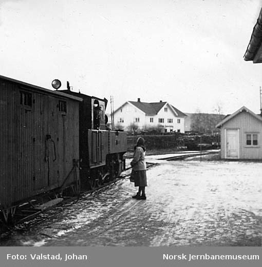 Toget på Lierfoss stasjon