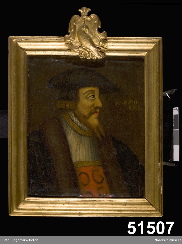 Kung av Danmark och Norge, regent 1513-1523. Även Kung av Sverige 1520-1523
