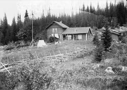 Husene på Holoa seter, Hadeland, Jevnaker, Oppland, 1903.