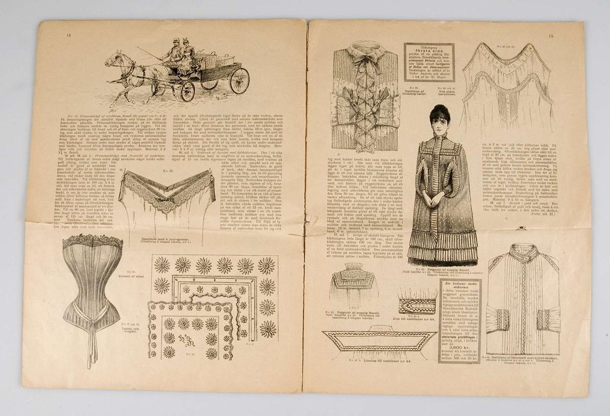 Modetidskrift tillägnad kronprinsessan Viktoria. Antagligen från 1890-talets början.
