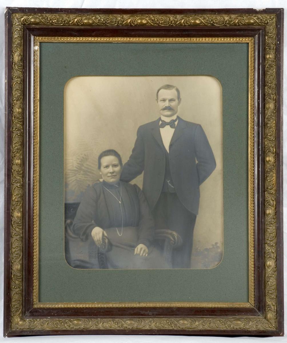 Porträtt av Elin och Fredrik Söderlund, Dragarbrunnsgatan, Uppsala