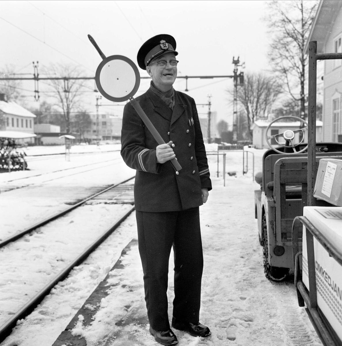 Tierps järnvägsstation, Tierp, Uppland 1966