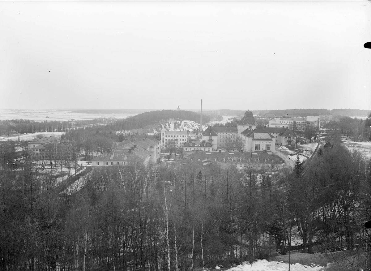 Vy mot Akademiska sjukhuset, Uppsala 1937