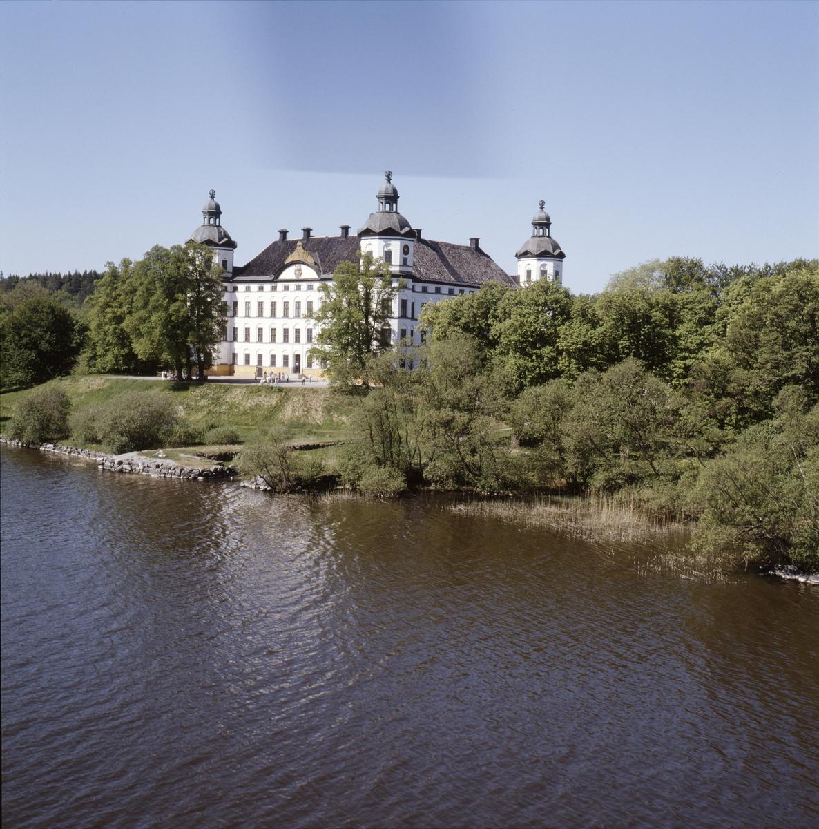 Vy över Skoklosters slott vid Mälaren, Skoklosters socken, Uppland, juni 1989