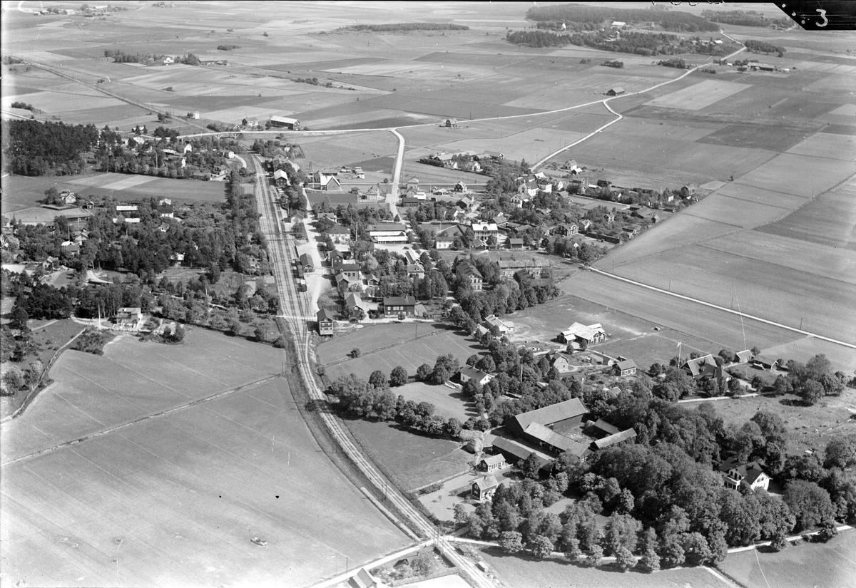 Flygfoto över Grillby, Villberga socken, Uppland 1936