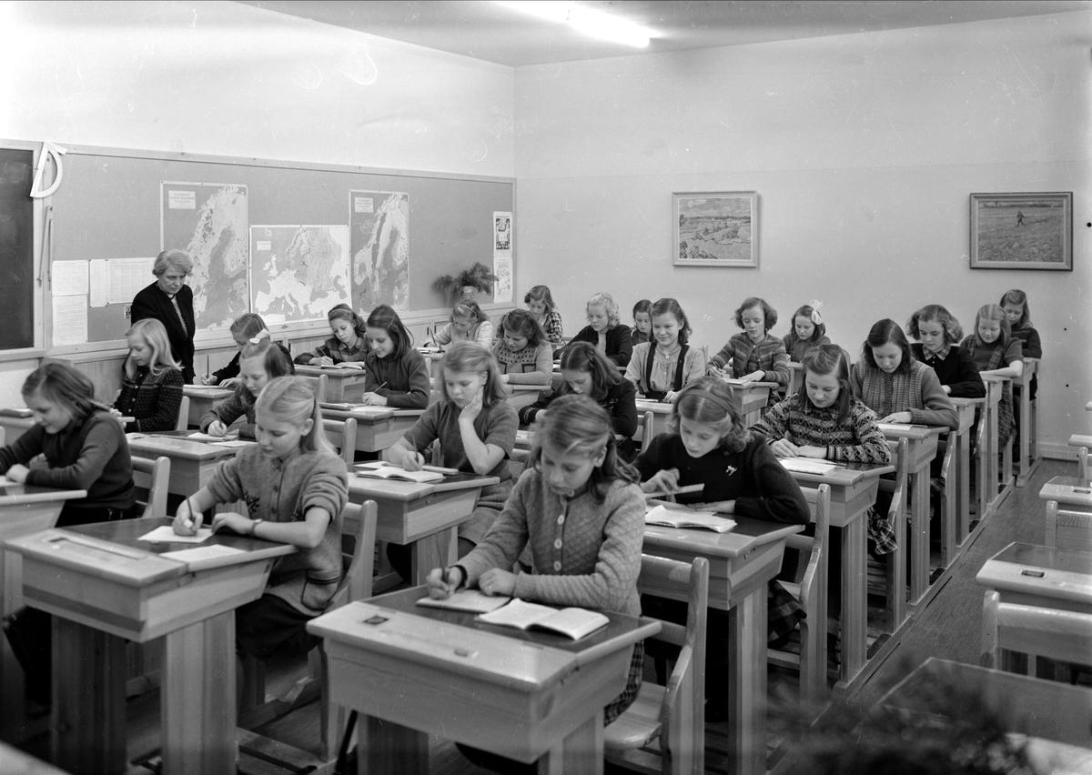 Nannaskolan, Kungsgatan, Uppsala - klassrum 1947