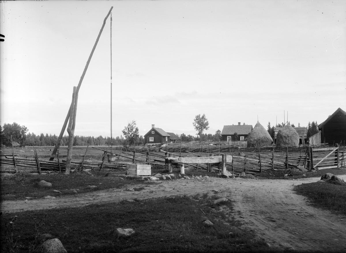 Bymiljö, Barknåre, Hållnäs socken, Uppland 1935