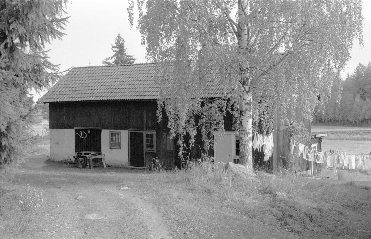Ladugård och uthus, Solhem, Oxsätra, Bälinge socken, Uppland 1983