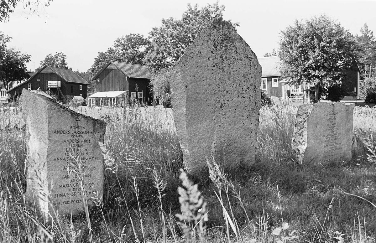 Minnesstenar på kolerakyrkogård invigd 1834, Malen, Hållnäs socken, Uppland 2000