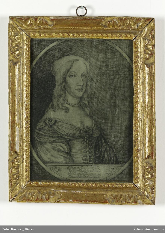 Porträtt av drottning Christina.