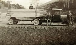Transport av plank trolig i Audnedal.