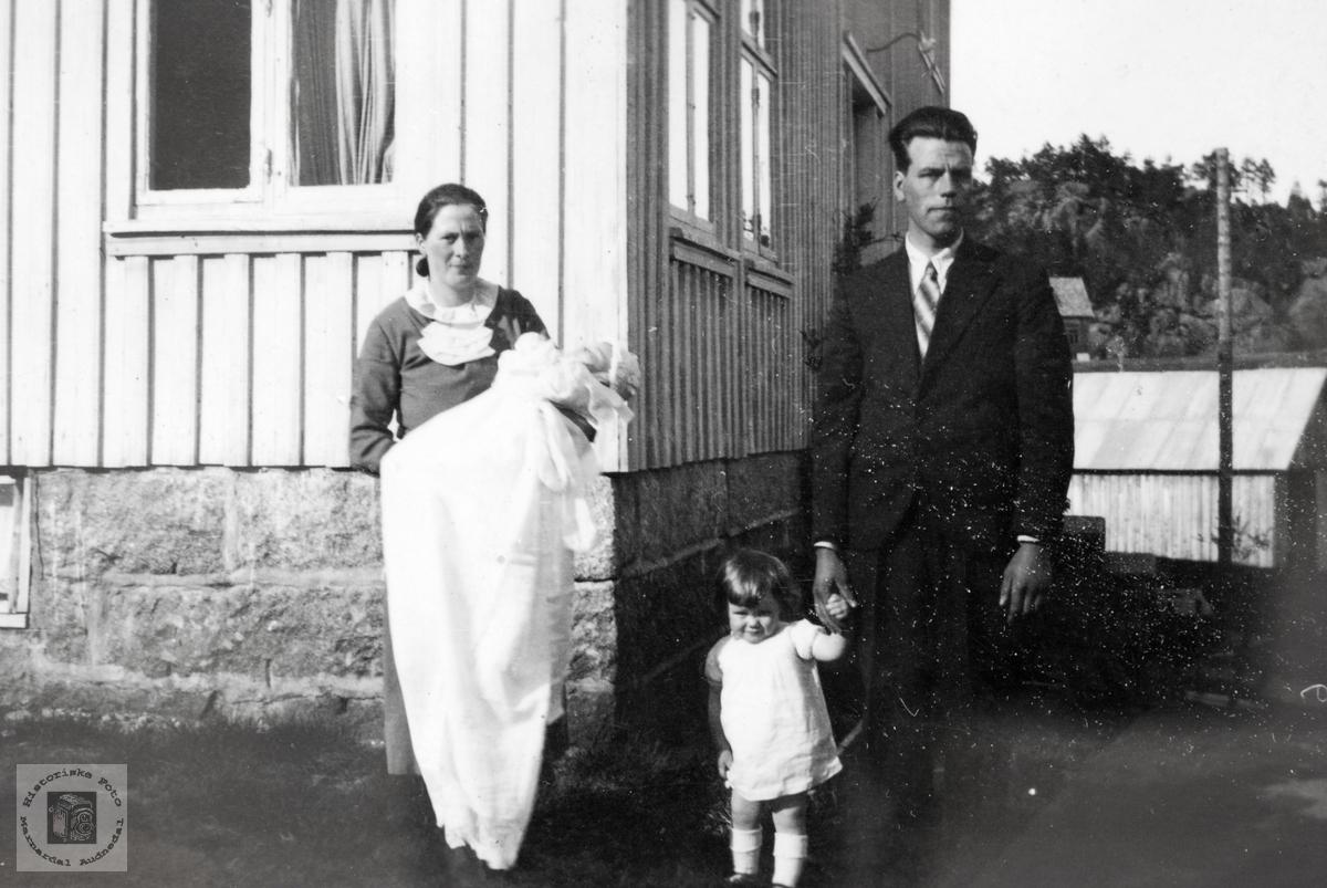 Dåpsdagen til Kjell Håland, Grindheim Audnedal.