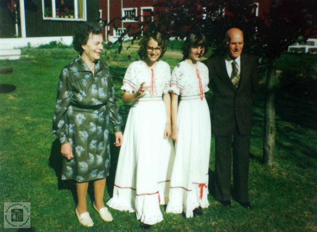 Familiebilde Rydlende. Grindheim Audnedal.