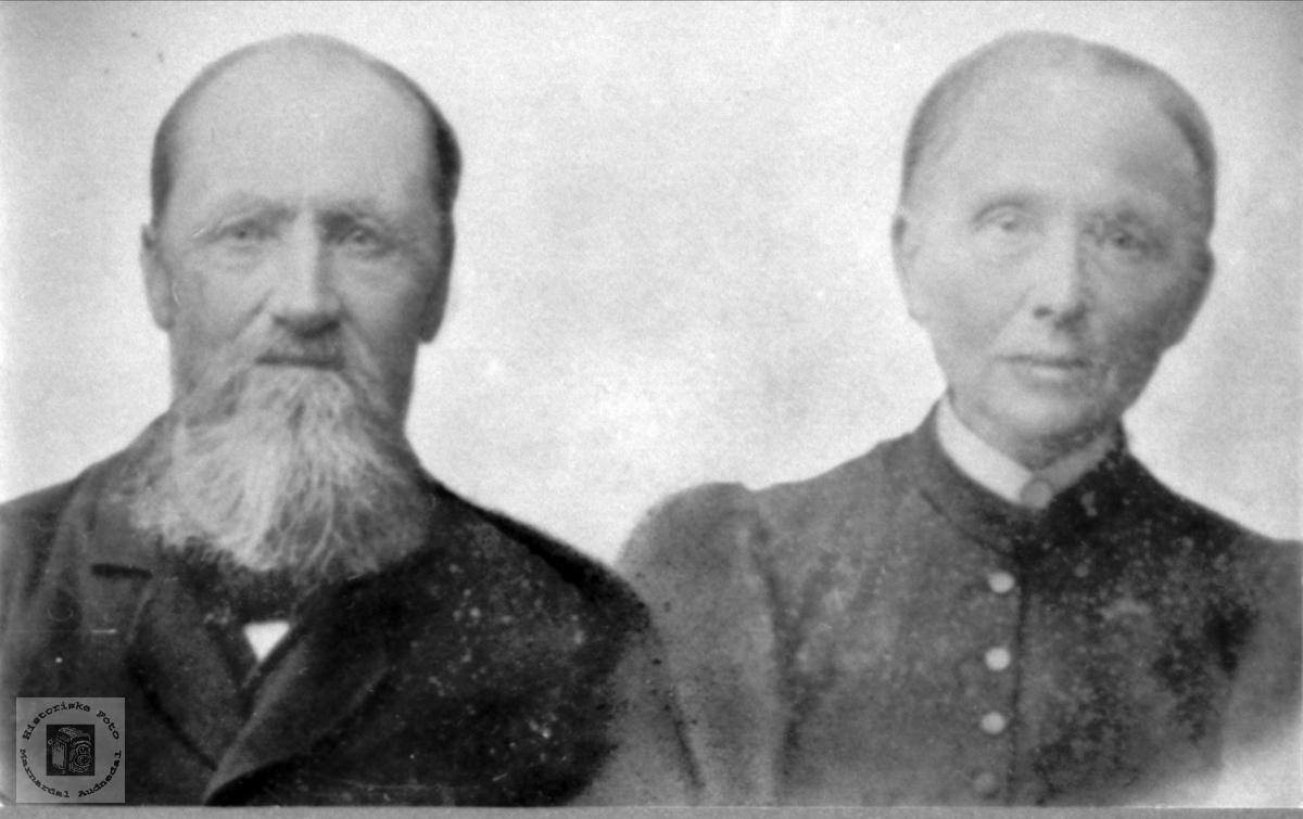 Portrett av ekteparet Nils og Joran Sundbø i Bjelland.