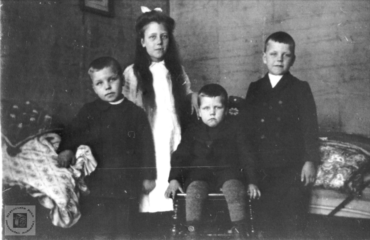 Dei eldste i søskenflokken på Håland.