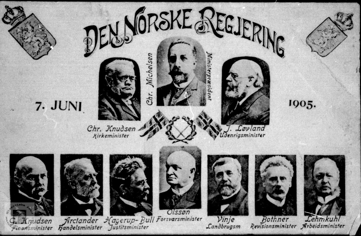 Den norske Regjering 7. juni 1905.