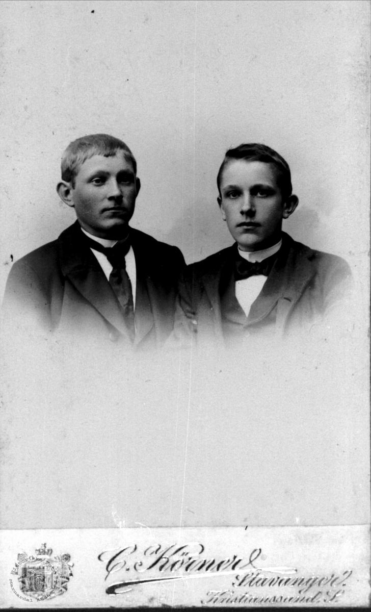 Brødrene Torvald og Bent Finsdal, Øyslebø.